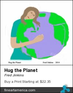 I sold a painting  Hug the Planet.